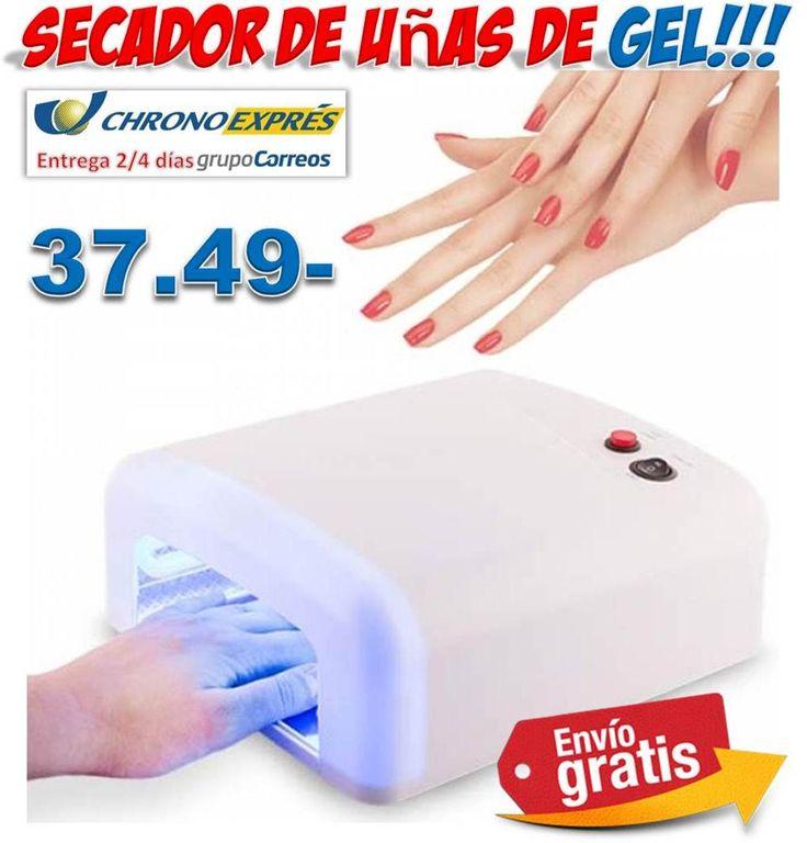 #belleza #salud #ofertas #descuentos #compras #uñas #gel  Secador de uñas de Gel con luz ultravioleta http://www.yougamebay.com/es/product/comprar-secador-de-unas-de-gel-barato-lampara-uv-unas-acrilicas---tienda-online