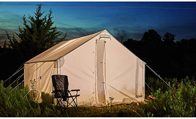 Guide Gear 10x12 Canvas Wall Tent Frame Not Included Review In 2020 Canvas Wall Tent Tent Wall Tent