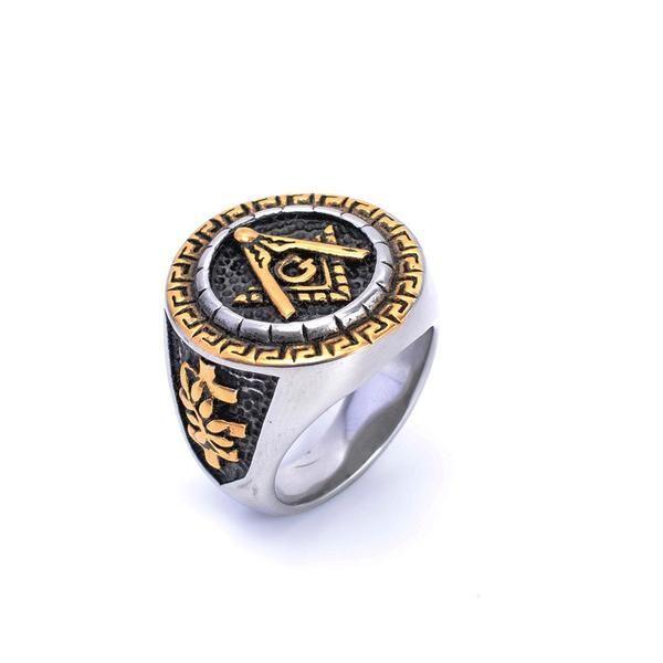 Silver & Gold Square Freemasonry Rings