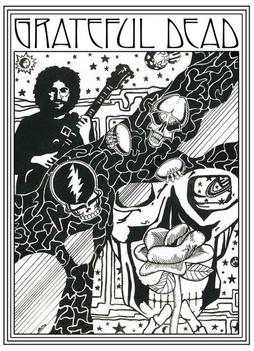 grateful dead artwork steve konklin - Grateful Dead Coloring Book