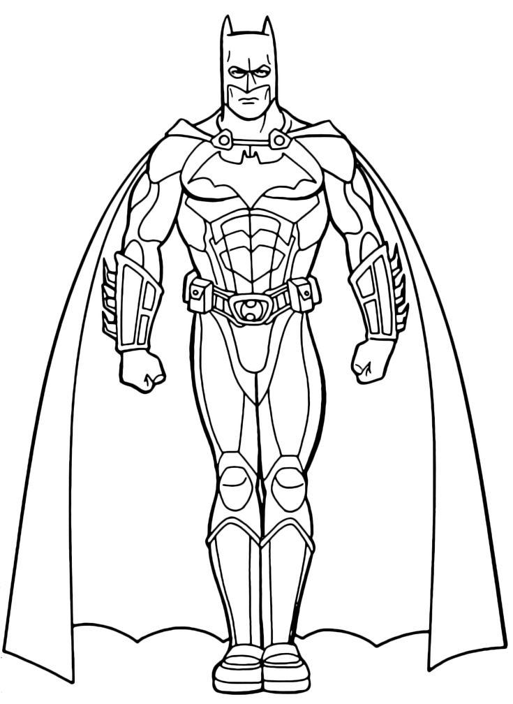 Batman col mantello disegni da colorare