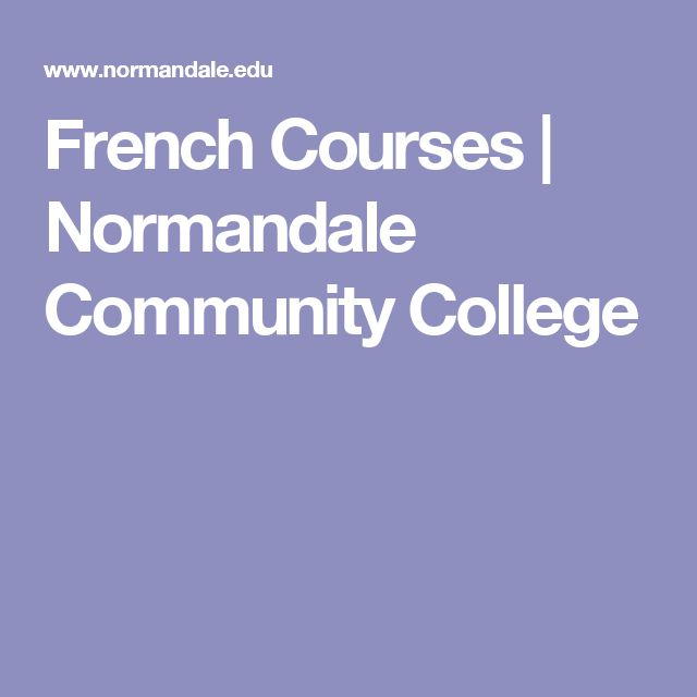 French Courses | Normandale Community College