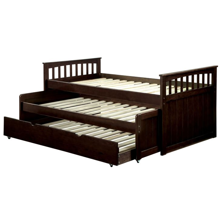 Furniture of America Crensa Mission Style Espresso Nesting Daybed | Overstock.com Shopping - The Best Deals on Beds