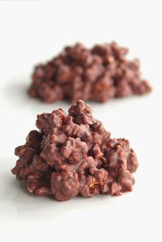 Rocas de chocolate y almendra caramelizada