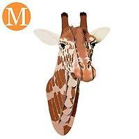 Trophée Tête de Girafe en Carton décoré - Moyen