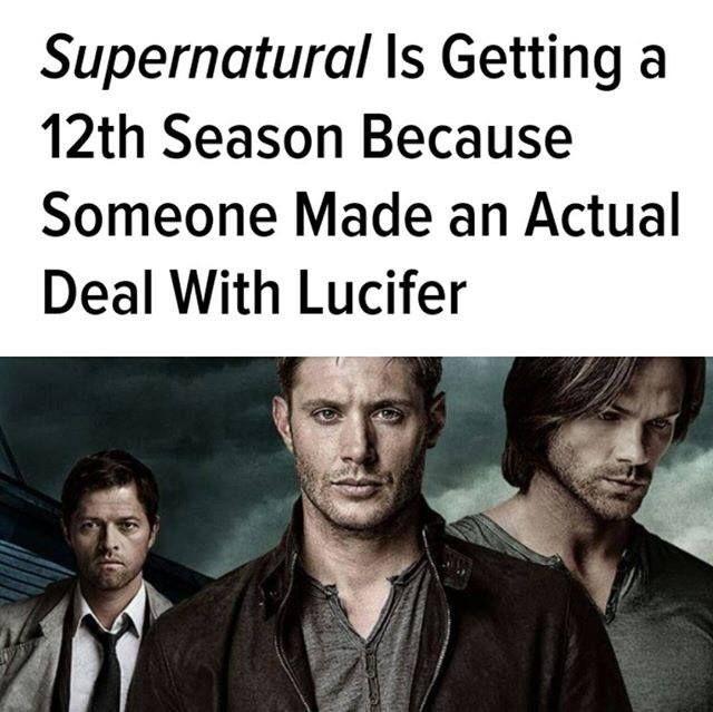 Supernatural Season 12. I Knew It. Lol