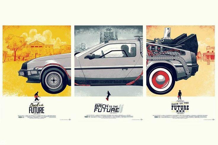 Grande Presente Back To The Future 1 2 3 Filme cartaz Casa Decoração wall Art Silk Poster De Alta qualidade de imagem impressão em Pintura & Caligrafia de Home & Garden no AliExpress.com | Alibaba Group