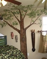 Camo Boys room in Regency Point designed by Jennifer Todd and painted by Shelia deCordova