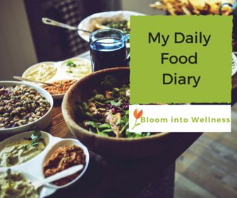 My Daily Food Diary- Get your free food diary to help increase self-awareness to improve your eating habits.