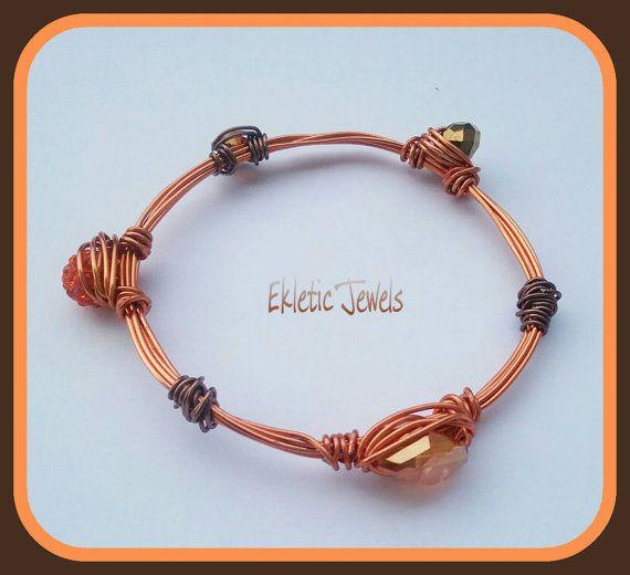 Guarda questo articolo nel mio negozio Etsy https://www.etsy.com/it/listing/451873682/original-handmade-bracelet-copper-wire