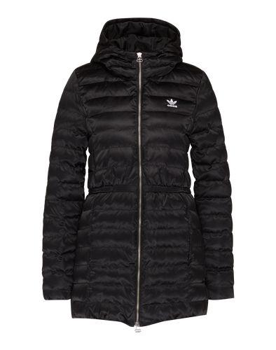 #ADIDAS #ORIGINALS #Damen #Steppmantel mit #Kapuze #schwarz Mantel von Adidas Originals. Das Piece eignet sich perfekt für kalte Wintertage. Der Mantel im Steppdesign kommt mit dicker Kapuze und einem durchgehenden Zipper daher. Ein Taillierung verleiht ihm einen femininen Touch. Eine glänzende Optik wertet das monochrome Design auf.