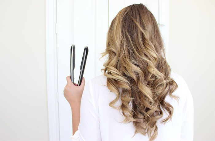 Long lasting curls created with a flat iron