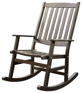 Home Styles Bali Hai Outdoor Rocking Chair in Black Finish - transitional - rocking chairs - by Cymax