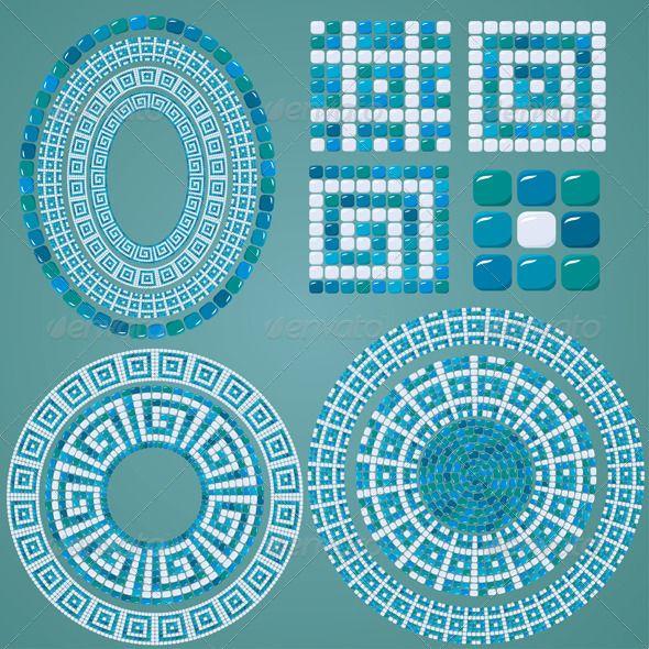 set of mosaic patterns mosaic designsmosaic ideastile - Mosaic Design Ideas