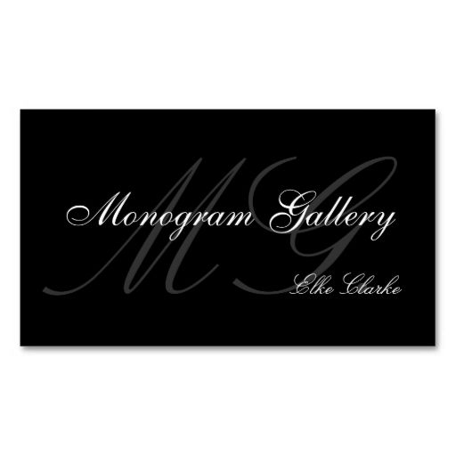 Customizable Monogram Plain Business Card. Make your own business card with this great design. All you need is to add your info to this template. Click the image to try it out!