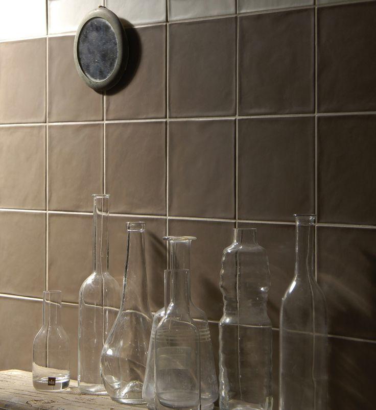 The 'Satinato' series by Academy Tiles. Satin matt ripple wall tiles.