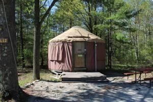 Camping in a Yurt in Door County Wisconsin, USA