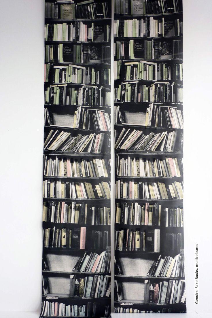 Tapete: Genuine Fake Books, multicoloured - TapetenAgentur