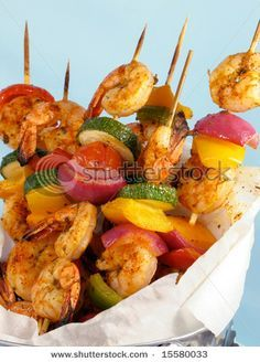 Shrimp shish kabobs