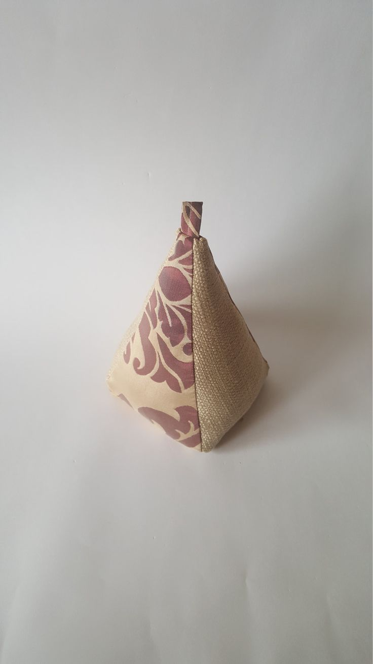 Excited to share the latest addition to my #etsy shop: Fabric Doorstop, Pyramid Shaped, Purple & Beige, Fabric Door Stop http://etsy.me/2CEJspT #housewares #homedecor #purple #cream #beige #neutral #turstopper #doorstop #pyramidshaped