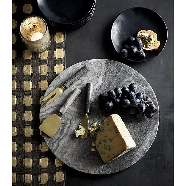 Hayes Black Marble Cheese Board Reviews Crate And Barrel Marble Cheese Board Marble Cheese Cheese Board