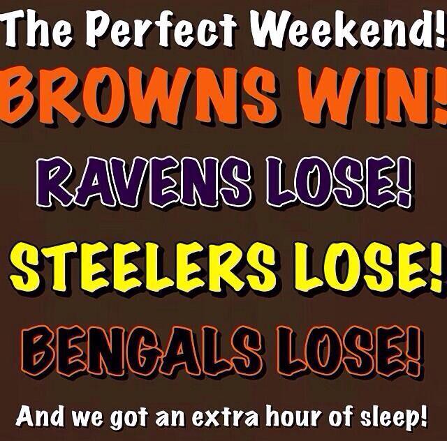 November 3, 2013. Cleveland Browns beat Baltimore Ravens at First Energy Stadium, Cleveland.