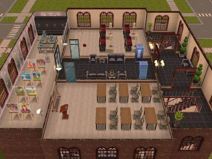 Sims Freeplay, Library, original house design