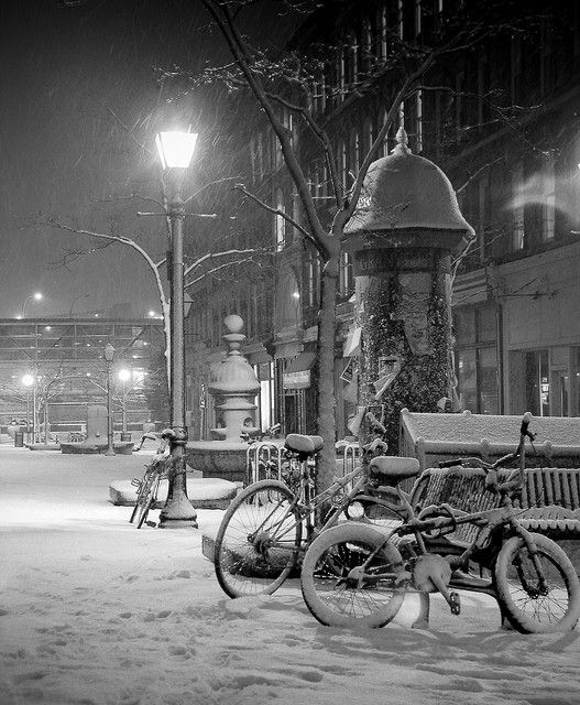 Historic Properties by shalinphoto - snowy night in Halifax, NS