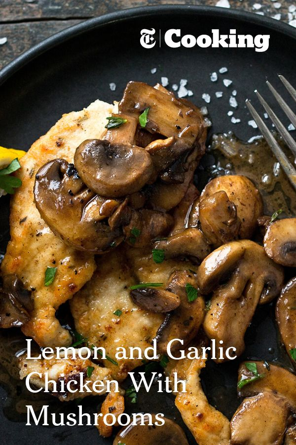 In this Provençal rendition of pan-cooked chicken breasts, the mushrooms take on and added dimension of flavor as they deglaze the pan with the help of one of their favorite partners, dry white wine. (Andrew Scrivani for NYT)