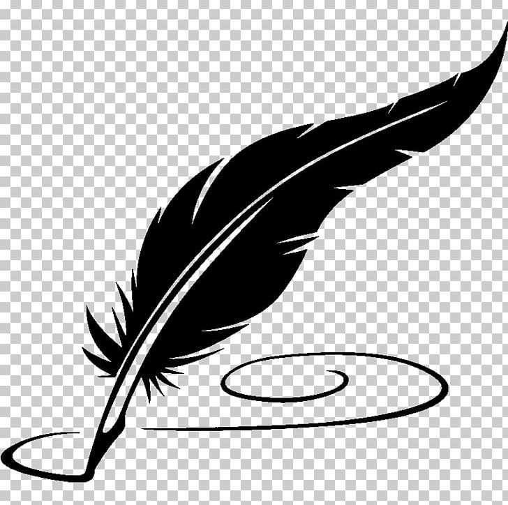 Paper Quill Fountain Pen Png Artwork Beak Bird Black And White Clipart Fountain Pen Quilling Png