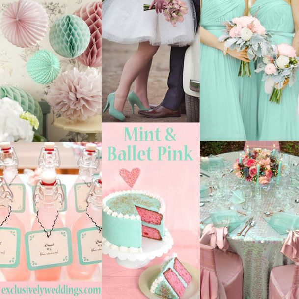 Mint Green and Pink Wedding