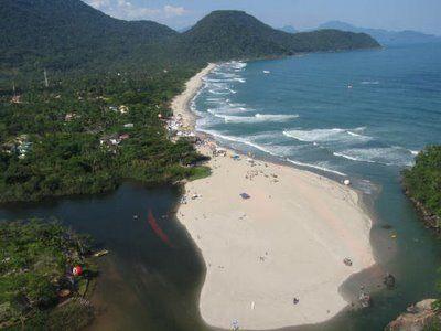 Itamambuca beach, in Ubatuba, Brazil