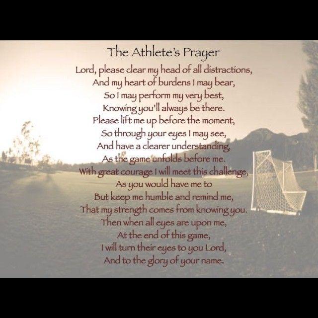 The athlete's prayer.