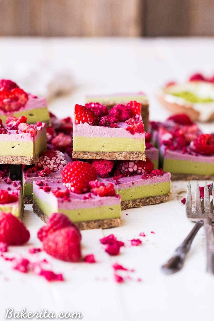 Raspberry Matcha Bars Recipe Matcha Bars Tea Recipes Raspberry