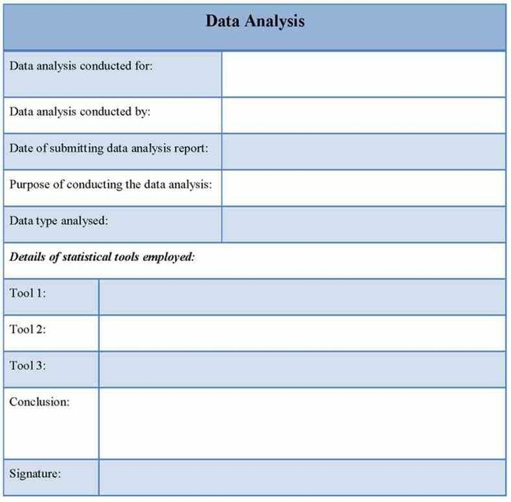 will eventually be asked to write report about some of analysis - Data Analysis Report Template