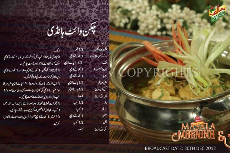 Pakistani Food Recipes In Urdu Cooking