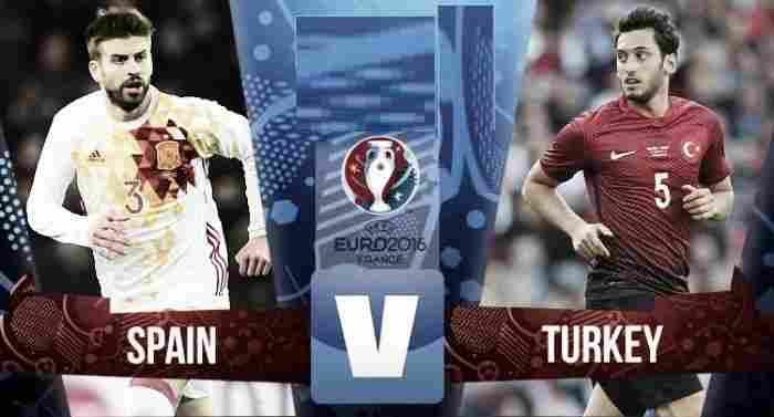 Spain vs Turkey live stream Uefa Euro 2016