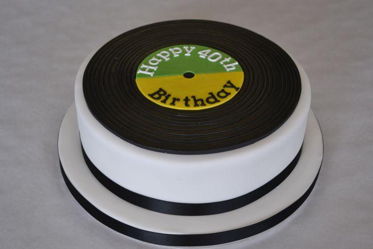 Record Cake cakepins.com                                                                                                                                                                                 More