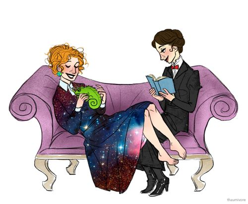 Miss Frizzle and Mary Poppins: Lady Time Lords. --- yes, a Thousand times, yes.