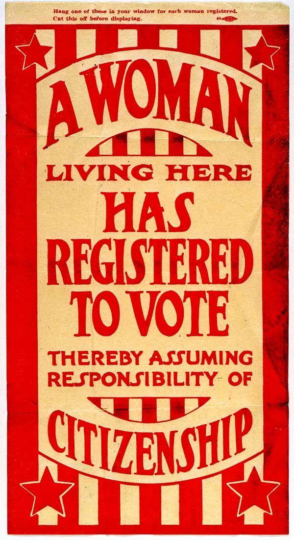 Suffrage ephemera   ca. 1920