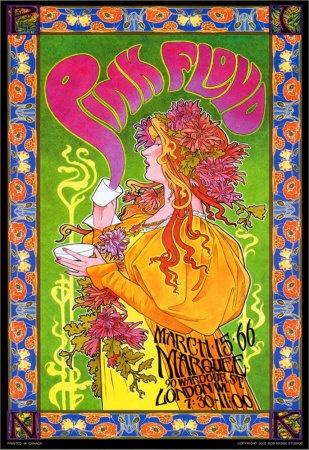 Bob Masse, Pink Floyd Mad Hatter's Tea Party concert commemorative poster, 1966