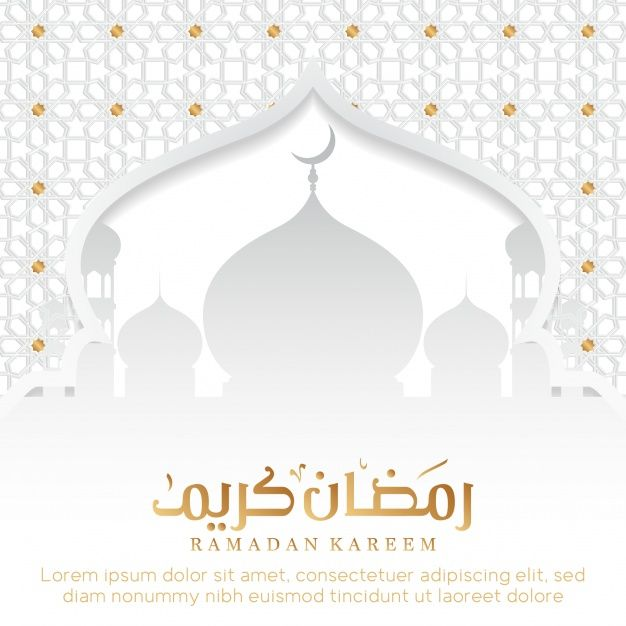 Ramadan background with mosque  Free Vector