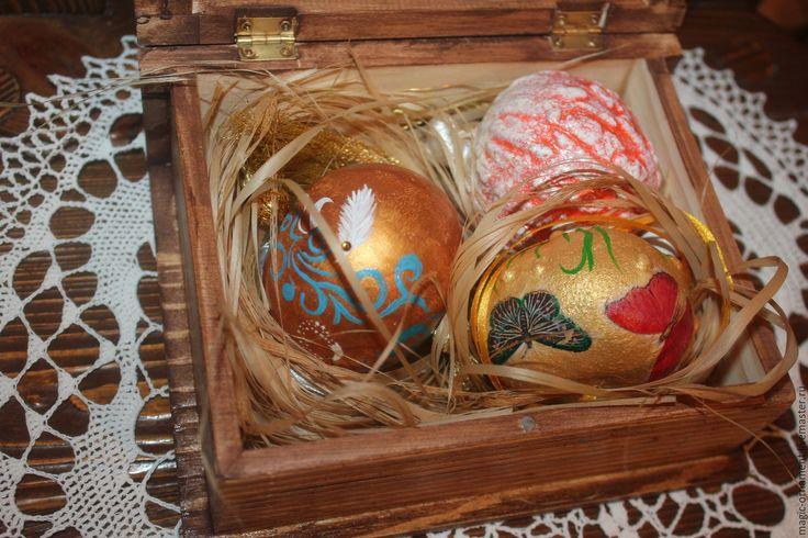 Купить Короб с набором елочных игрушек из настоящих тыкв MAGIC - разноцветный, Набор елочных игрушек