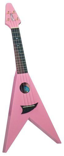 Mahalo U-40PK Arrow Shaped Pink Ukulele with Gig Bag by Mahalo. $65.41. U-40PK the Flying V in Pink is a well made ukulele with a real modern flair, yet still retains the sound, feel and spirit of the traditional Hawaiian Ukulele. It come with a custom V shaped Gig Bag for added protection and ease of transport