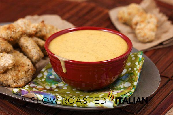 Wendy's Copycat Honey Mustard Dipping Sauce from theslowroasteditalian.com  #recipe #dip
