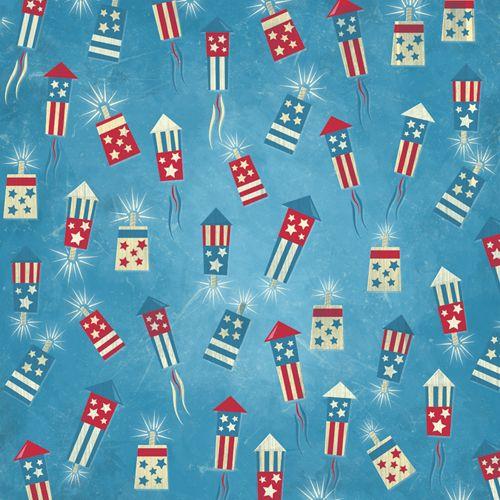 Karen Foster Design - Patriotic Collection - 12 x 12 Paper - Fireworks Stand at Scrapbook.com $0.75