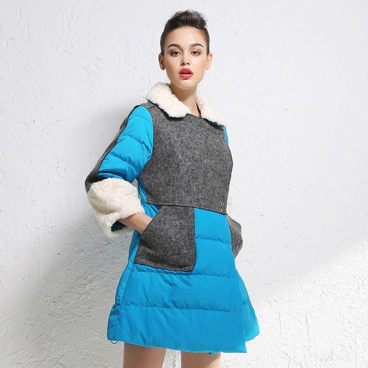 ▶ ▶ ▶  Куртка Пальто женщина длинные свободные волны из категории Женские пуховики