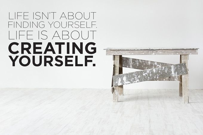 Create Yourself Quote by Stickaroo on hellopretty.co.za
