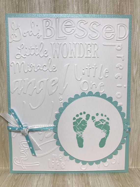 New Baby Card//Expecting Card//Handmade Card