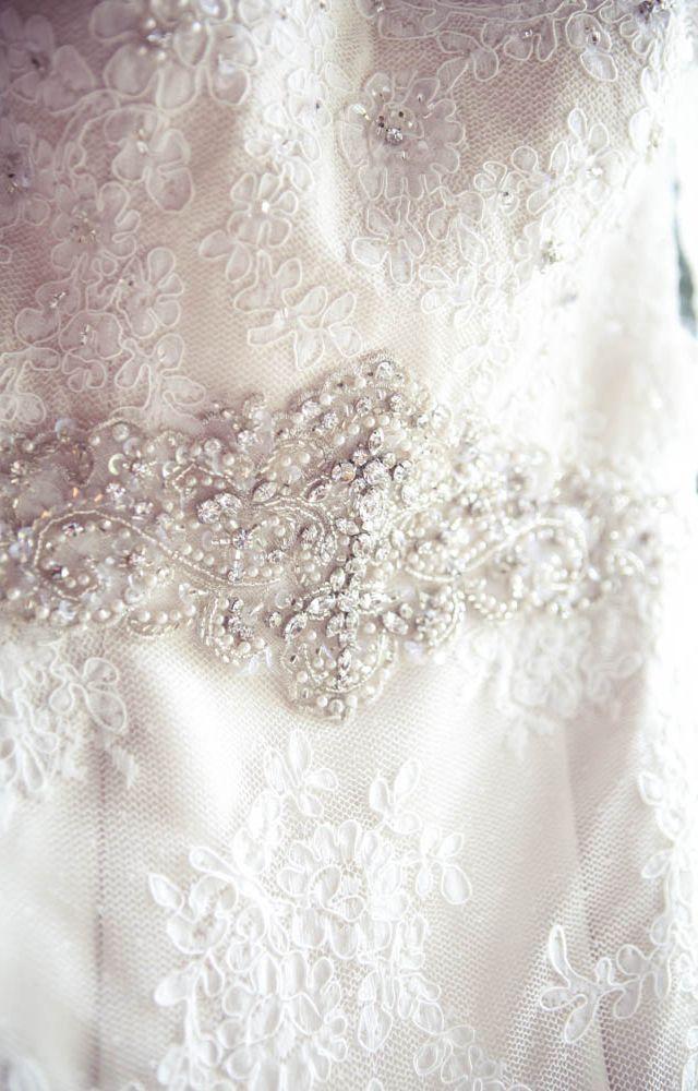 Wedding dress detail - photo by New Vintage Media